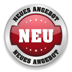 Neus Angebot button mit metall Rand