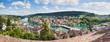 Leinwanddruck Bild - Panoramic view of Swiss town Schaffhausen. River Rhine.