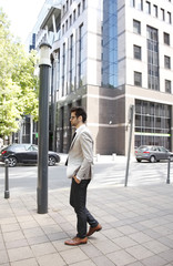 Young businessman in financial district