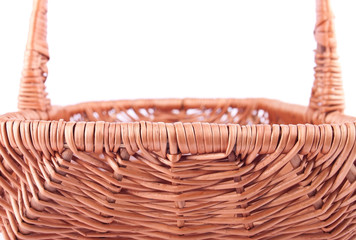 The side back of wicker basket