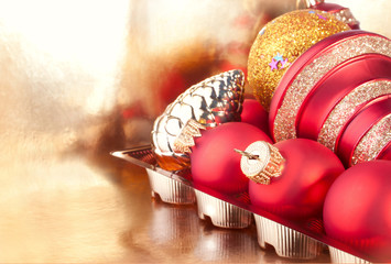 The Heap of Christmas and New Years  Baubles