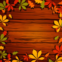 Vector Illustration of Autumn Leaves