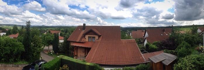 Panoramaaufnahme vom Dorf