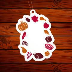 Vector Illustration of a Thanksgiving Tag