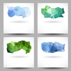 Set of backgrounds with abstract triangles