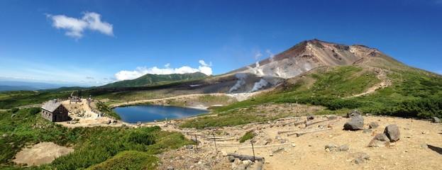 北海道旭岳のパノラマ