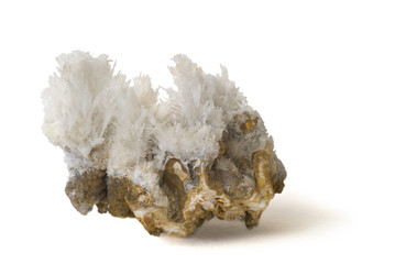 Fine aragonite crystals. 6.4cm across.