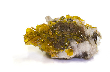 Wulfenite (lead molybdate), Chihuahua, Mexico. 4.5cm across.