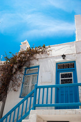 Old traditional greek house on mykonos island, Greece