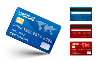 Realistic  Credit Card two sides