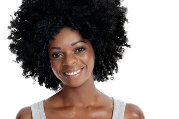 Beautiful woman with afro