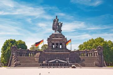 Das Deutsche Eck in Koblenz am Rhein