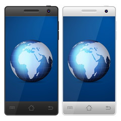 smartphone world globe