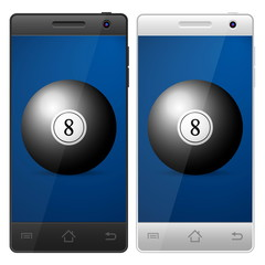 smartphone billiards ball