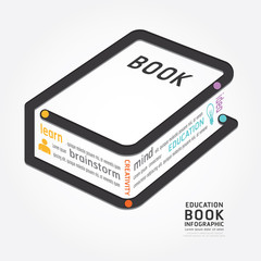 infographics vector book design diagram line style timeline .