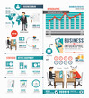 Infographic Business world job template design . concept vector