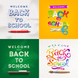 Back to school - set of different style vector backgrounds