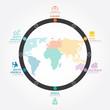 infographics vector world business concept design diagram line.