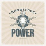 Wiedza to projekt typograficzny