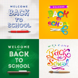 Fototapety Back to school - set of different style vector backgrounds