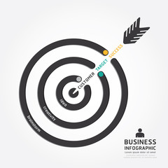 infographics vector business arrow design. customer target.