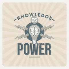 Knowledge is power - quote typographical design