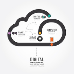 Infographic Technology digital line concept template design.