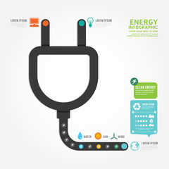 infographics vector eco energy concept design diagram line style