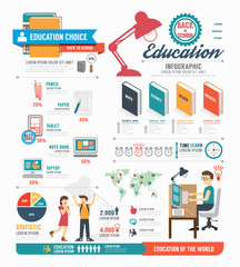 Infographic education template design . concept vector.