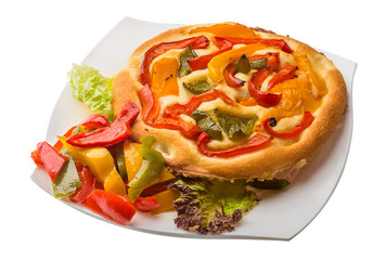 Pizza with bulgarian pepper