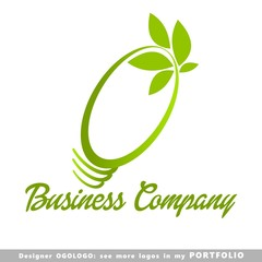 logo, green, conservation, power, vector, energy, building