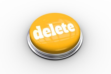 Delete on shiny yellow push button