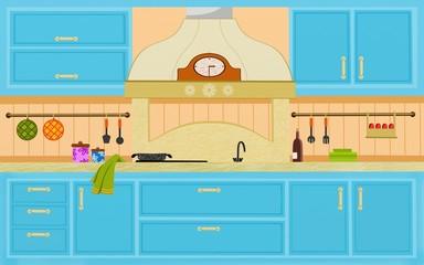 cucina celeste