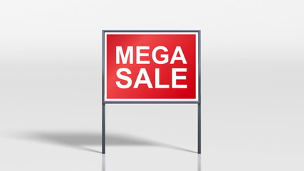 shop signage stand open and mega sale HD