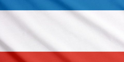 Crimea flag waving