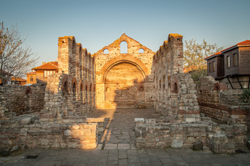 Old Byzantine church in Nessebar, Bulgaria. UNESCO