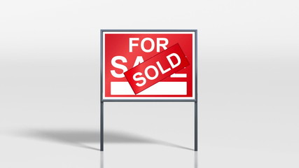 signage stand open house for sale HD