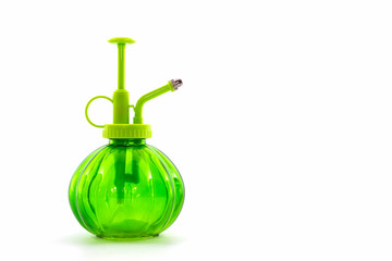Green spray bottle.