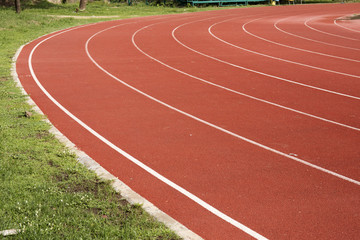 Athletics Running track rubber
