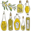 set of bottle for olive oil, vector - 67775613