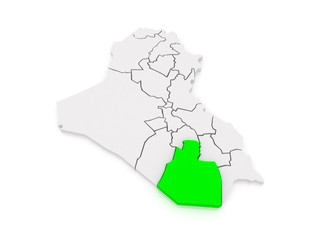 Map of Muthanna. Iraq.