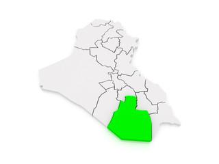 Map of Muthanna. Iraq.