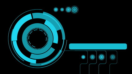 hologram futuristic interface, abstract motion background