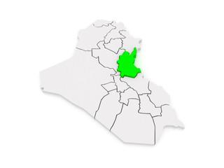 Map of Diyala. Iraq.