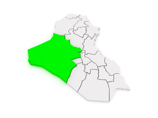 Map of Anbar. Iraq.