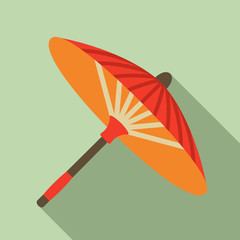 Japanese umbrella vector illustration