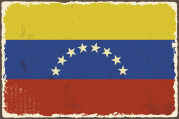 Venezuelan grunge flag. Vector illustration