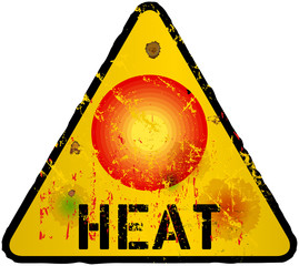 heat warning sign,vector eps 10