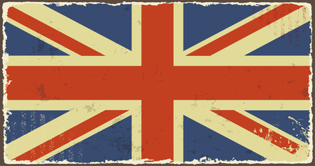 British grunge flags. Vector illustration