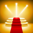 Illuminated stage podium for award ceremony vector - 67776882